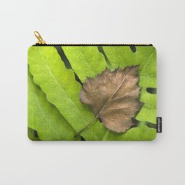 Old and New Leaf Abstract Art Carry-All Pouch