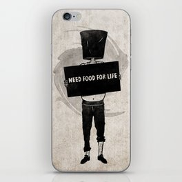 Need Food For Life iPhone Skin