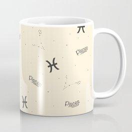 Pisces Pattern - Beige Coffee Mug
