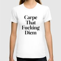 die hard T-shirts featuring Carpe by WRDBNR