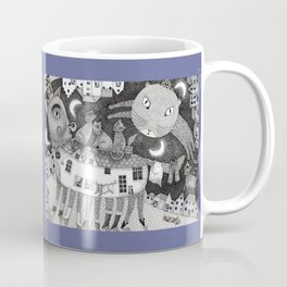Cats at Night Coffee Mug
