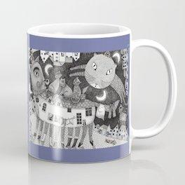 Cats at Night Coffee Mug