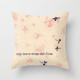 she flies Throw Pillow