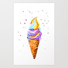 ice cream. Art Print