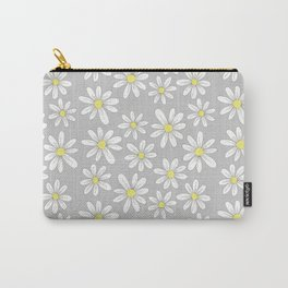 simple daisies on gray Carry-All Pouch