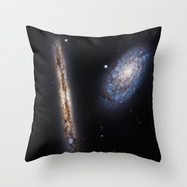 Galaxies NGC 4302 and NGC 4298 Throw Pillow