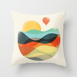 Let the world be your guide Throw Pillow
