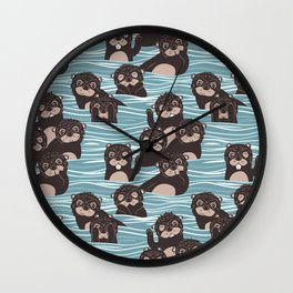 Otters dazzling the audience Wall Clock