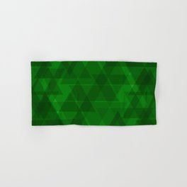 Bright green triangles in intersection and overlay. Hand & Bath Towel