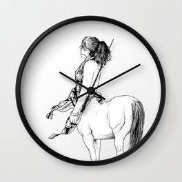 horses for courses III Wall Clock