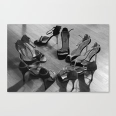 Sea of shoes Canvas Print