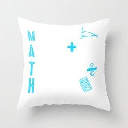 School Math Teacher Mistakes Allow Thinking to Happen Throw Pillow