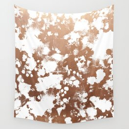 Rose Gold shiny metal sparkle modern pattern abstract rosegold trendy pattern cell phone accessories Wall Tapestry