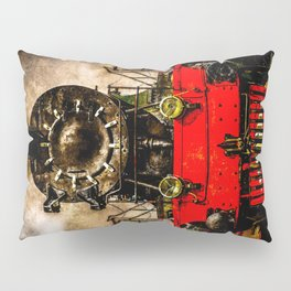 Vintage Steam Engine Locomotive - Back From The Farness Pillow Sham