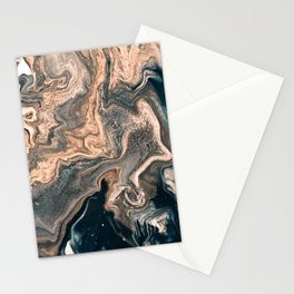 M A R B L E - copper & blue Stationery Cards