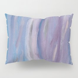 Touching Purple Blue Watercolor Abstract #2 #painting #decor #art #society6 Pillow Sham