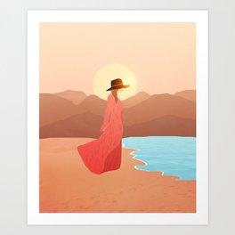 Beauty in the beach Art Print