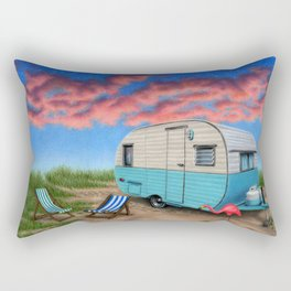 The Happy Camper At Night Rectangular Pillow