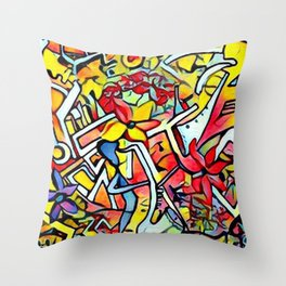 All that Jazz Summer Sessions Throw Pillow