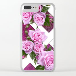 Roses on the Trellis Clear iPhone Case