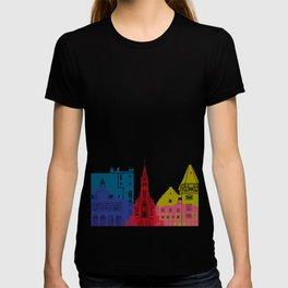 Vaduz skyline pop T-shirt