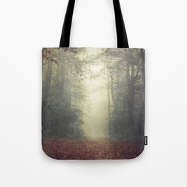 hOme - misty forest path Tote Bag