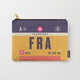 Retro Airline Luggage Tag - FRA Frankfurt Carry-All Pouch