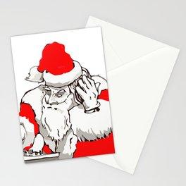 Merry Christmas DJ Santa Nonstop Remix Stationery Cards