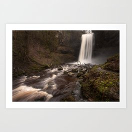 Henrhyd Falls South Wales AKA The Batcave Art Print