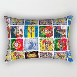 Portuguese art collage Rectangular Pillow