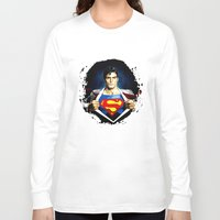superman Long Sleeve T-shirts featuring Superman by DavinciArt