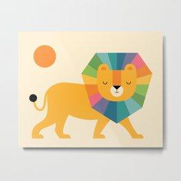 Lion Shine Metal Print