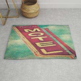 Paradise Motel Sign Rug