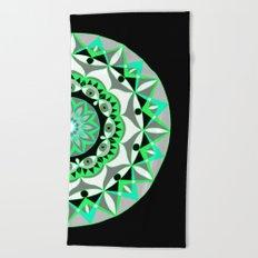 My Mandhala   Secret Geometry   Energy Symbols Beach Towel