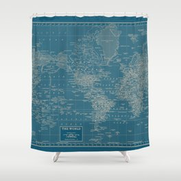 The World According to US Shower Curtain