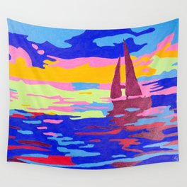 Evening Sail Wall Tapestry