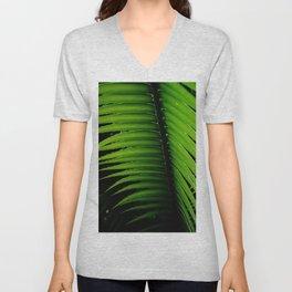Palm tree leaf Unisex V-Neck