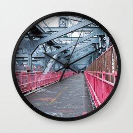 Across the Williamsburg Bridge Wall Clock