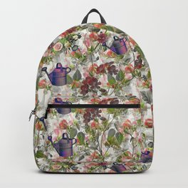 Floral with Watering Can Backpack