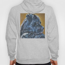 A Cane Corso dog portrait from an original painting by L.A.Shepard Hoody