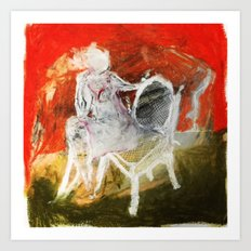 Woman & Chair Art Print