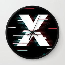 X futuristic poster Wall Clock