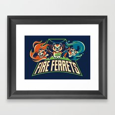 Fire Ferrets Framed Art Print