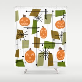 Halloween Mid Century Modern Shower Curtain