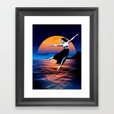 Shadow Dancer - setting Framed Art Print