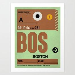 BOS Boston Luggage Tag 1 Art Print