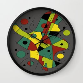 Abstract #226 The Cellist #2 Wall Clock