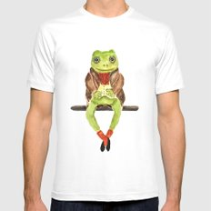 Mr. Frog Mens Fitted Tee MEDIUM White