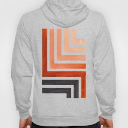 Burnt Sienna Mid Century Modern Watercolor Colorful Ancient Aztec Art Pattern Minimalist Geometric P Hoody