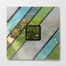 Summer Ocean Glass Metal Print